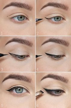The most easiest way to do winged eyeliner. #motd #makeup #makeuptips #eyeliner #winged #blackeyeliner #liquideyeliner #beauty #fabfashionfix #makeuptutorial