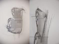 Meghan Price, Acting Like Starlings,   enamelled copper wire