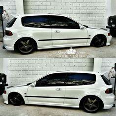 #Honda #Civic #Eg #Hatch #JDM #Stance #Slammed