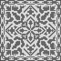 Square 20 | Free chart for cross-stitch, filet crochet | Chart for pattern - Gráfico