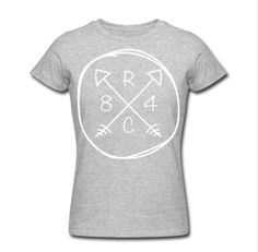 Girls 'Arrow' Tee on American Apparel  http://respiteclothingco.spreadshirt.com/women-s-slim-fit-t-shirt-by-american-apparel-A12605824/customize/color/231  #skatelife #arrow #tee #1984 #respite #clothing #womens #womensfashion #americanapparel #circle