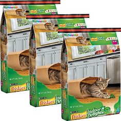 Purina Friskies Indoor Delights Dry Cat Food (16 lb. Bag (Pack of 3))