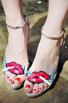 Prada Shoes Cigarrete Lips