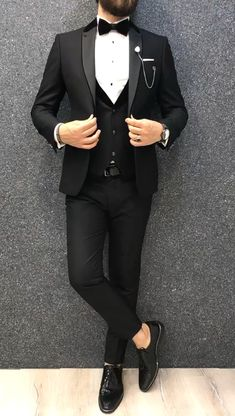 Gio Slim Fit Tuxedo is part of Wedding suits men black - Product vest tuxedo Color code blackSize 464850525456 Suit material viscose poly Machine washable No Fitting Slimfit Remarks Dry Cleaner Season 2019 Spring Wedding Season Suit Gym Dress For Man, Dress Suits For Men, Prom Suits For Men, Wedding Dresses Men Indian, Wedding Dress Men, Mens Casual Suits, Mens Fashion Suits, Mens Suits Style, Slim Fit Tuxedo