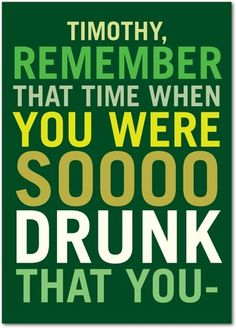 Hazy Memories - Funny St Patrick's Day cards from treat.com