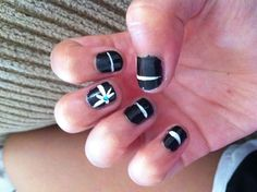 Design for short nails did it myself!