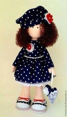 bambola di stoffa - cartamodello