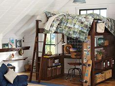 PBteen Sleep & Study loft bed