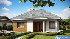 Small but beautiful house plans - Houz Buzz Beautiful House Plans, Beautiful Homes, One Storey House, Cosy House, Three Bedroom House, Gazebo, Shed, Exterior, Outdoor Structures