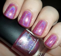 Holographic nail polish from Born Pretty Store #pink #nails