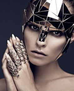 #futuristic #fashion Conceptual Cyborg Accessories - The Dichotomic Editorial by Aleksandra Zaborowska is Futuristic (GALLERY) by annette