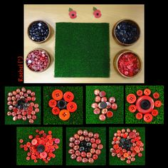 Transient Art Poppies (from Stimulating Learning with Rachel) Poppies inspired play activities for the Early Years classroom or to do with young children - useful links for Remembrance Sunday. from Rachel ( Remembrance Day Activities, Remembrance Day Poppy, Poppy Craft For Kids, Crafts For Kids, Montessori, Creative Area, Egg Carton Crafts, Anzac Day, Teaching Art