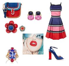 """Red and blue, plus a bit pink"" by gloria-yi-qiao on Polyvore featuring Elie Saab, Camilla Elphick, Marc Jacobs, Sharon Khazzam, Christina Addison and Rupaul"