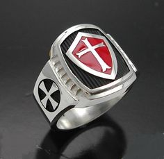 Knights Templar:  Sterling silver #Knights #Templar cross ring.