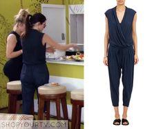 KUWTK: Season 11 Episode 6 Kendall's Blue Drape Front Jumpsuit