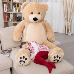 Free 2-day shipping. Buy WOWMAX 6 Foot Giant Huge Life Size Teddy Bear Daney Cuddly Stuffed Plush Animals Teddy Bear Toy Doll for Birthday Christmas Brown 72 Inches at Walmart.com Large Teddy Bear, Giant Teddy Bear, Teddy Bear Toys, Cute Teddy Bears, Doll Toys, Pet Toys, Tween Girl Gifts, Cool Toys For Girls, Toddler Christmas