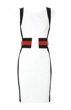 Karen Millen Graphic Colourblock Dress | Vogue-trends.com