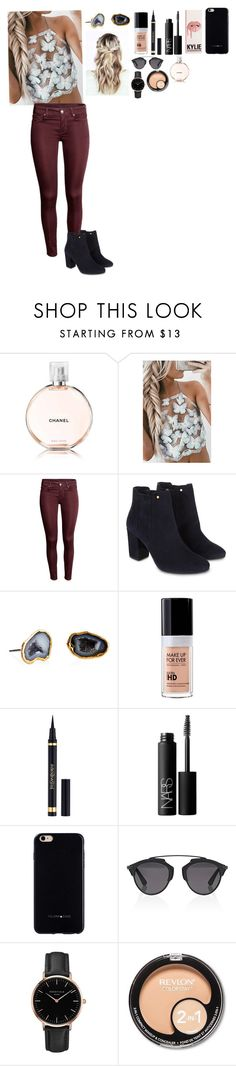 """""""Untitled #436"""" by dianamarierg ❤ liked on Polyvore featuring Chanel, Monsoon, Janna Conner, MAKE UP FOR EVER, Yves Saint Laurent, NARS Cosmetics, Felony Case, Christian Dior, Topshop and Revlon"""
