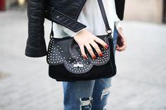 #BettyxLancaster #bag #outfit #detail #rock #lancasterparis #lancaster (Pic by Dulceida)
