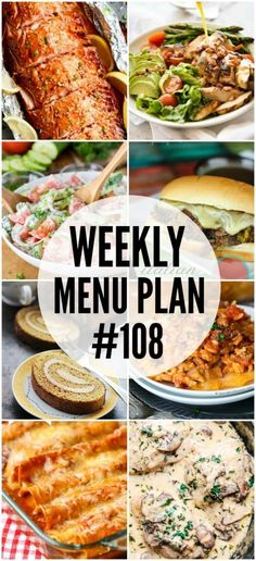 weekly menu plan 108 spend with pennies