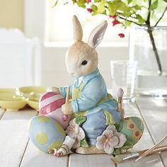 hoppy easter (via Bunny Easter Eggs China Figurine by Lenox via Peter Rabbit & Co. Hoppy Easter, Easter Bunny, Easter Eggs, Bunny Painting, Painting Eggs, Easter Season, Diy Ostern, Easter Parade, Easter Colors