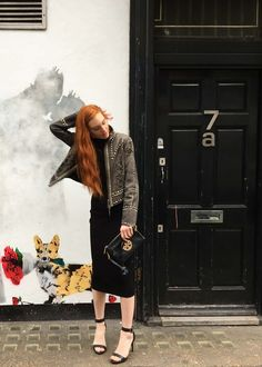 The Red Hand Third Look at London Fashion Week - Double D Ranch studded leather jacket