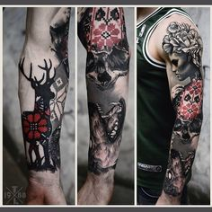 "1,968 Likes, 115 Comments - Nahujnada@ukr.net (@timur_lysenko) on Instagram: ""Sleeve in progress. Done at Redberry tattoo studio, Wroclaw city, welcome)"""