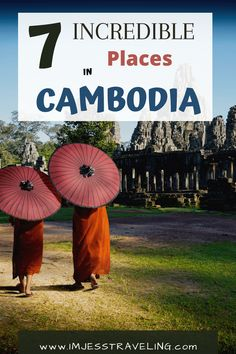 Planning a trip to Cambodia?  Make sure not to miss these 7 incredible places to visit in Cambodia.  Including the stunning Angkor Wat.  #Cambodia #SoutheastAsia #imjesstraveling Amazing Destinations, Travel Destinations, Travel Tips, Travel Guides, Slow Travel, Best Places To Travel, Cool Places To Visit, Stuff To Do, Things To Do
