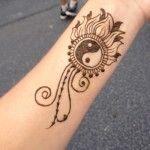 yin yang henna