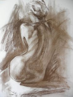 50 x 70 cm drawing, pastel on paper. An original drawing of a woman act, with artistic pastel handling.