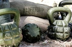 Boombell Kettlebells. The 35lb (1 pood), 53lb (1.5 pood), and the Monster Frag 72lb (2 pood) Boom Bell by MadFitter. Sometimes mistakenly called Bomb Bell.
