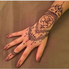 To many people, tattoos are exotic and daring things to get into. Henna Tattoo Sleeve, Mandala Hand Tattoos, Small Henna Tattoos, Mehndi Tattoo, Henna Tattoo Designs, Hand Henna, Tiny Tattoo, Tattoo Arm, Hand Tattoos For Women