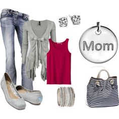 a cute MOM outfit! perfect for playing at the park, created by krispardue on Polyvore