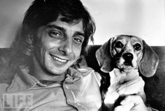 Barry Manilow and dog Bagel at his New York Apartment