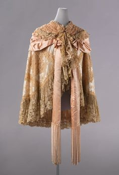 C. Worth satin and lace cloak, c. 1890-1900. Courtesy of the Rijksmuseum.