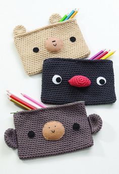 Cute Crocheting Pencil Case. There's nothing like a cool pencil case full of cool pencils, erasers and accessories to excite your kids' imagination and ignite their creative and linguistic passions. Show how much you care about them.