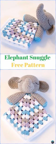 Crochet Elephant Snuggle Free Pattern - Crochet Elephant Free Patterns