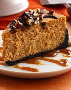 Turtle Pumpkin Cheesecake, #Cheesecake, #Pumpkin, #Turtle