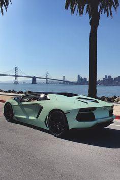 Matte teal and gloss black Lamborghini Aventador #cars #car #lamborghini