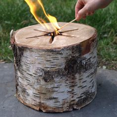 An all natural way to get a fire going quickly in a fireplace, fire pit, or chiminea using just a single match and zero chemicals.