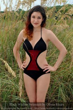 a55d90ee2e716 Avengers Swimsuits  The beautiful and talented Avant-Geek in her awesome  Avengers swimsuits!