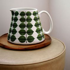 Stig Lindberg designed for the Swedish Gustavsbergs Porcelain Factory and is posthumously one of Swedens most populair designers.