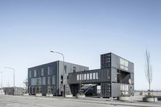 arcgency's shipping container offices in copenhagen are made to be moved