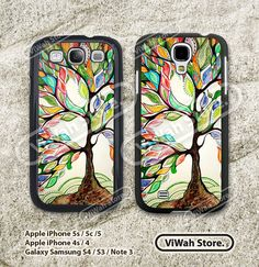 Tree Samsung Galaxy S4 S3 Case, Love Tree of Life Galaxy S4 S3 Hard Case Rubber Case, cover skin case for Samsung S4 S3 case on Etsy, $7.99