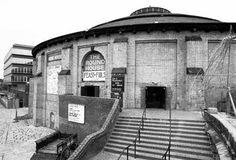 The Roundhouse building circa 1974 when showing the 'Feast of Fools'