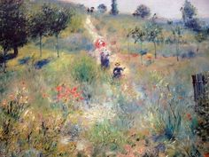 Pierre-Auguste Renoir (French, 1841-1919) - Trail in the Tall Grass, 1876-1877