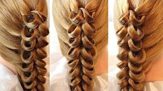 Be with us beautiful braids and braids in the trend. Be it a fishtail braid, a waterfall braid or just Creative Hairstyles, Up Hairstyles, Pretty Hairstyles, Braided Hairstyles, Beautiful Braids, Gorgeous Hair, Hair Creations, Hair Videos, Hair Today