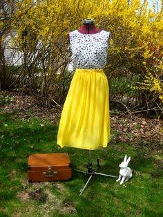 chiffon skirt, knee length