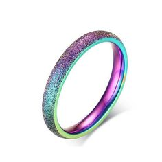 AGOOD Brand New High Quality Stainless Steel Rainbow Ring Classic Round 3mm  Finger Rings For Women Anillos Fashion Jewelry Gift #Affiliate