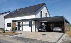 Carport Garage, Pergola Carport, House Extension Design, House Design, Enclosed Carport, Garage Building Plans, Carport Modern, Modern Fence Design, Modern House Facades